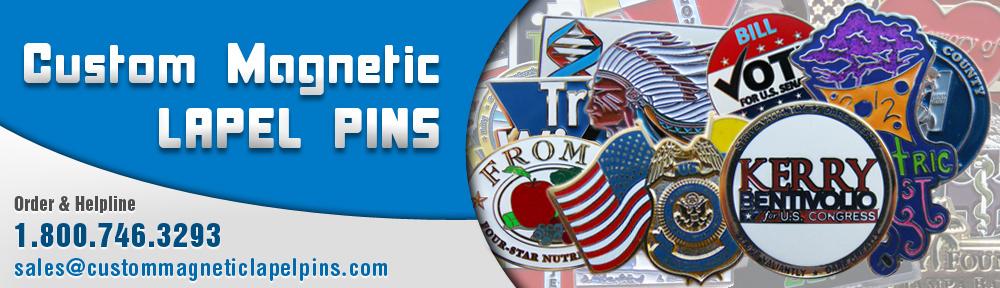 Custom Magnetic Lapel Pins | Custom Logo Lapel Pins